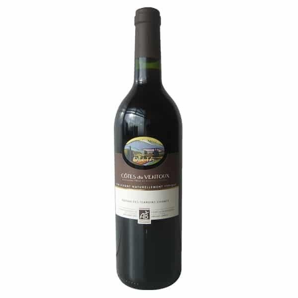 Contreforts du Delta' Côtes du Ventoux AC -Organic Red Wine