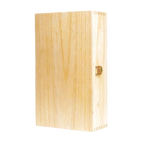 Hinged wooden gift box